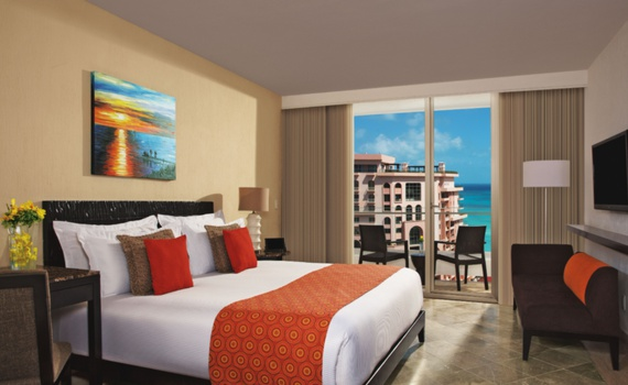 Deluxe com vista para o mar Hotel Krystal Grand Cancun Resort & Spa Cancún